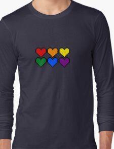 Pride Pixel Hearts Long Sleeve T-Shirt