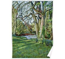 River Monnow at Allt yr Ynys, Monmouthshire, Wales Poster