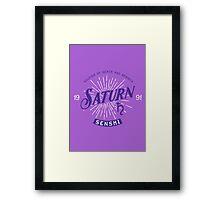 Vintage Saturn Framed Print