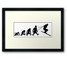 ski jump skiing darwin evolution Framed Print