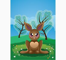 Brown Rabbit on Lawn 2 Unisex T-Shirt