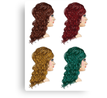 Curly Hairstyle 2 Canvas Print