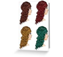 Curly Hairstyle 2 Greeting Card