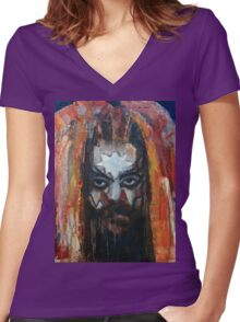 ROY WOOD Portrait. Wizzard, ELO, The Move Women's Fitted V-Neck T-Shirt