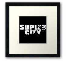 Brock Lesnar - SUPLEX CITY Framed Print