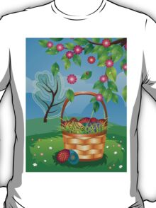 Easter Basket on Lawn T-Shirt