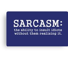 SARCASM_white version Canvas Print