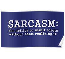 SARCASM_white version Poster