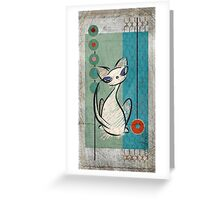 Mid Century Modern: Lil Miss Purrfect Greeting Card