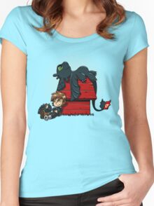 Dragon Peanuts Women's Fitted Scoop T-Shirt
