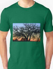 Silhouette At Sunset Unisex T-Shirt