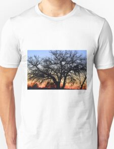 Silhouette At Sunset Unisex T-Shirt