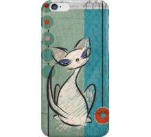 Mid Century Modern: Lil Miss Purrfect iPhone Case/Skin