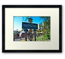 Radiator Springs Entrance Framed Print