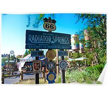 Radiator Springs Entrance Poster