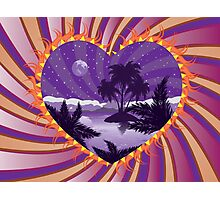 Tropical island in a heart Photographic Print