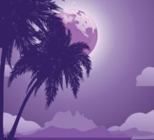 Tropical island at night Sticker