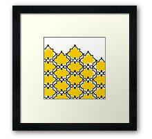 Geometric brush beauty Framed Print