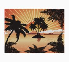 Sunset tropical island 2 Kids Clothes