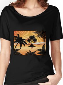 Sunset tropical island 2 Women's Relaxed Fit T-Shirt