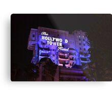 Hollywood Tower Hotel Metal Print