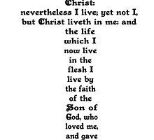 GALATIANS 2:20 cross by Calgacus