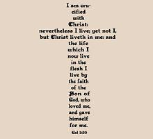 GALATIANS 2:20 cross Womens Fitted T-Shirt