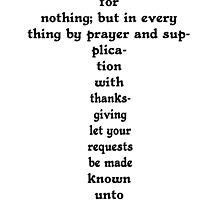 PHILIPPIANS 4:6 CROSS by Calgacus