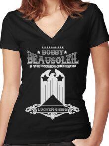 Bobby Beausoleil Lucifer Rising Design  Women's Fitted V-Neck T-Shirt