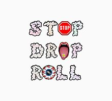 Stop, drop and roll Womens Fitted T-Shirt