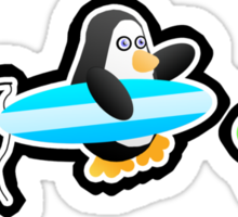 Penguin Summer Sticker