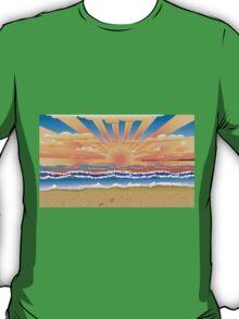 Sunset on tropical beach 2 T-Shirt