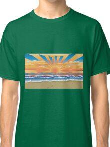 Sunset on tropical beach 2 Classic T-Shirt