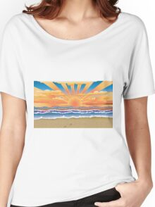 Sunset on tropical beach 2 Women's Relaxed Fit T-Shirt
