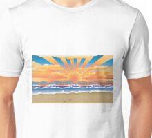 Sunset on tropical beach 2 Unisex T-Shirt