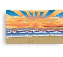 Sunset on tropical beach 2 Canvas Print