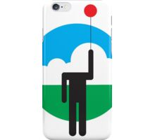 Balloon Head in the Clouds iPhone Case/Skin