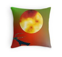 Pre-historic Stag Throw Pillow