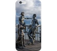 "Sculpture named ""people like us"", in Cardiff Bay iPhone Case/Skin"