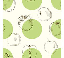 seamless pattern made of scattered decorative apples Photographic Print