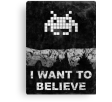 Invader X Canvas Print