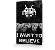 Invader X Greeting Card