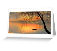 Fishing Sunset Greeting Card