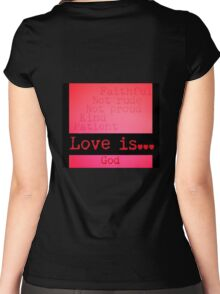Love defined... Women's Fitted Scoop T-Shirt