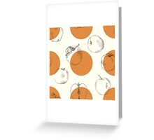 seamless pattern made of scattered decorative apples Greeting Card