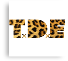 TDE Leopard Pattern Canvas Print