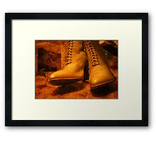 Victorian boots Framed Print