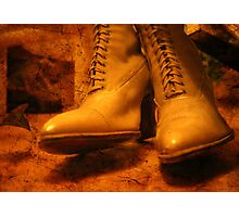 Victorian boots Photographic Print