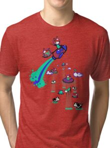 Rocket Ship Tri-blend T-Shirt