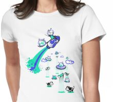 Rocket Ship Womens Fitted T-Shirt
